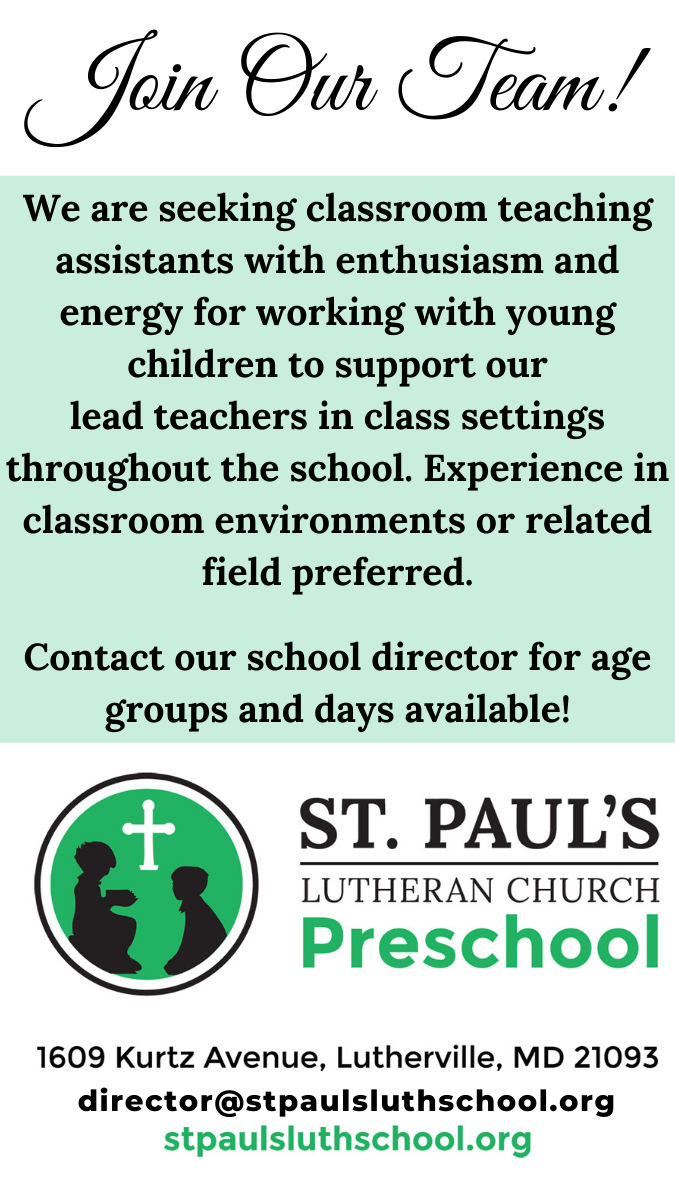 Join our teaching staff!